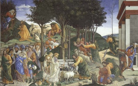 Scenes from the Life of Moses by Sandro Botticelli art print
