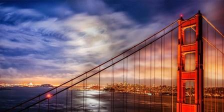 N. Tower Panorama - GG Bridge by John Gavrilis art print