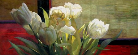 Tulips with Red by Jan McLaughlin art print