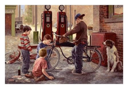 The Bike Patrol by Jim Daly art print
