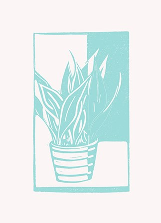 Mint Snake Plant by Lisa Kesler art print