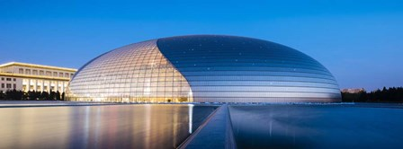 National Centre For The Performing Arts At Twilight, Beijing, China by Panoramic Images art print
