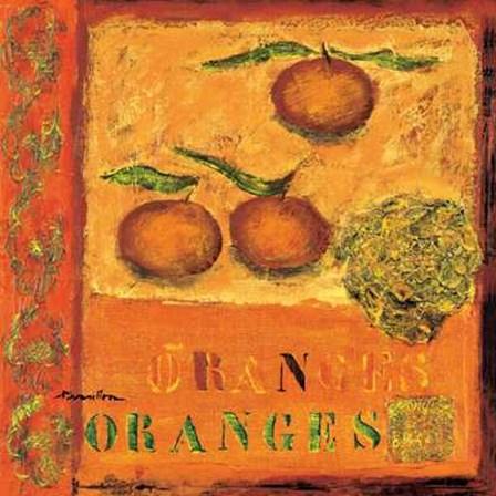 Oranges by Francoise Persillon art print