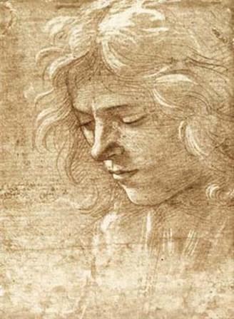 Sepia Maiden by Fra Filippo Lippi art print