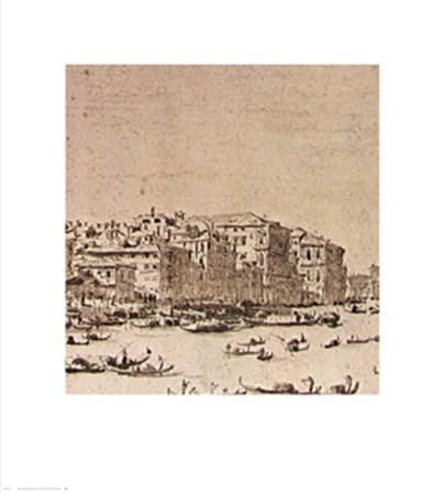 Grand Canal Beyond Rialto by Francesco Guardi art print