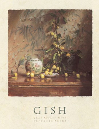 Crab Apples with Japanese Print by Del Gish art print