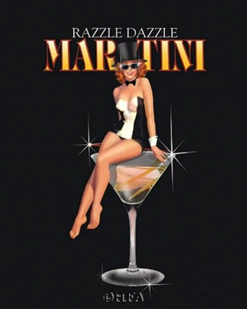 Razzle Dazzle Martini by Ralph Burch art print