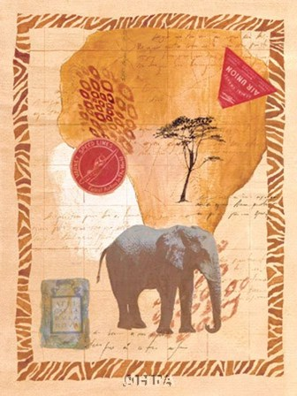 Travel Elephant by Fernando Leal art print