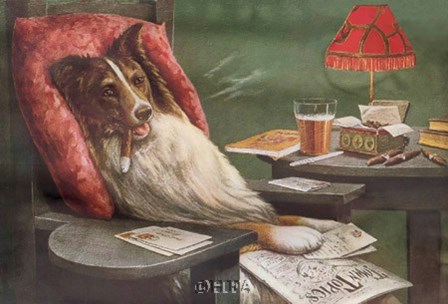 A Bachelor's Dog by Cassius Marcellus Coolidge art print