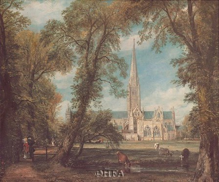 Salisbury Cathedral from the Bishops' Grounds by John Constable art print