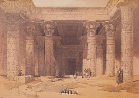 Grand Portico of the Temple of Philae by David Roberts art print