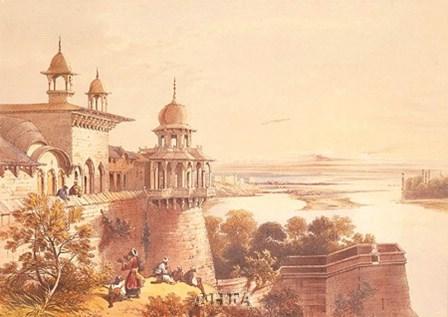 Palace and Fort at Agra by David Roberts art print