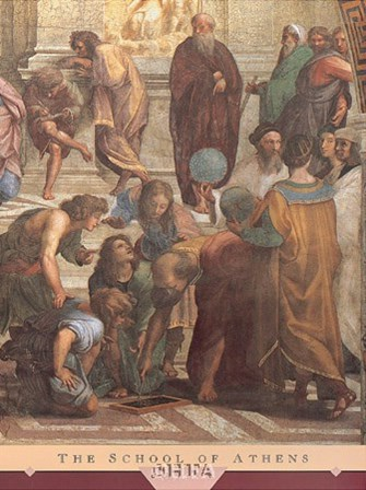 The School of Athens (Detail, Right) by Raphael art print