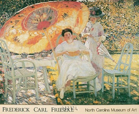 The Garden Parasol, 1909 by Frederick Carl Frieseke art print