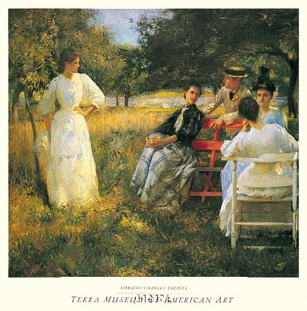 In The Orchard, 1891 by Edmund Charles Tarbell art print