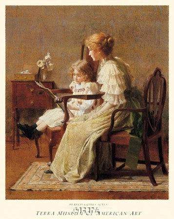 Mother and Child, c. 1885 by Francis Coates Jones art print