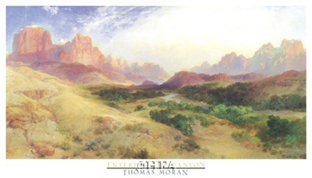 Entering the Canyon by Thomas Moran art print