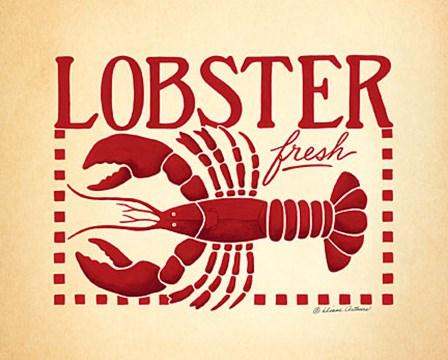 Lobster by Diane Arthurs art print