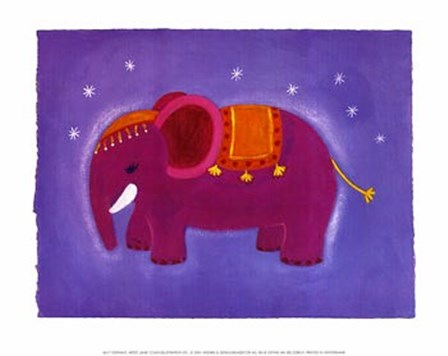 Elephant by Janie Coath art print