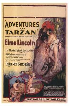 The Adventures of Tarzan, c.1921 - style A art print