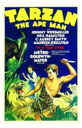 Tarzan the Ape Man, c.1932 - style A art print