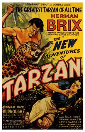 The New Adventures of Tarzan, c.1935 - style A art print
