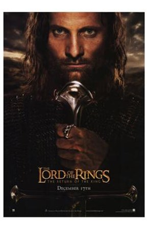 Lord of the Rings: Return of the King - King Aragorn art print