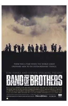 Band of Brothers Silhouette art print