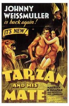 Tarzan and His Mate, c.1934 - style C art print