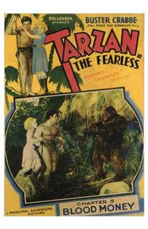 Tarzan the Fearless, c.1933 chapter 5 art print