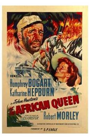 The African Queen Robert Morley art print