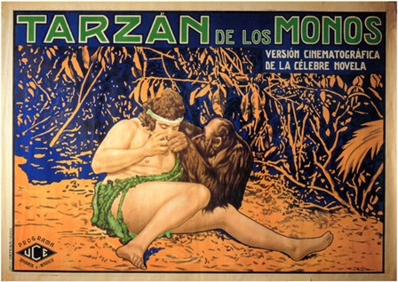 Tarzan of the Apes, c.1917 (Spanish) - style A art print