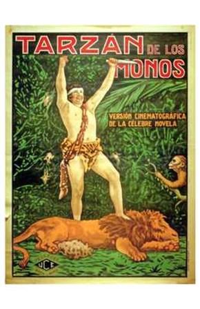Tarzan of the Apes, c.1917 (Spanish) - style B art print