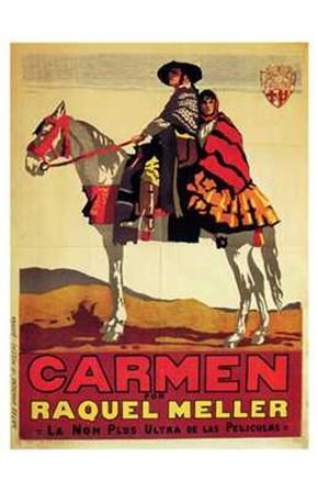 Carmen - on a horse art print