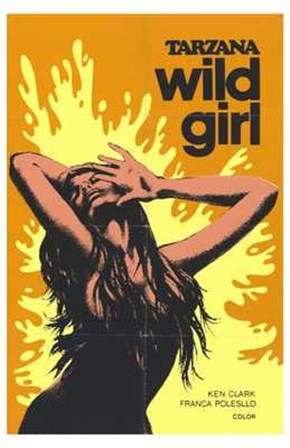 Tarzana the Wild Girl, c.1969 art print