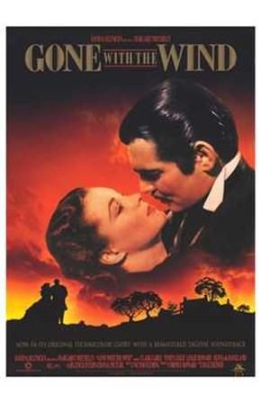 Gone with the Wind Scarlett O'Hara & Rhett Butler art print
