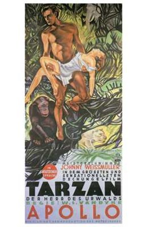 Tarzan the Ape Man, c.1932 (German) - style A art print