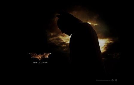 Batman Begins Silhouette art print