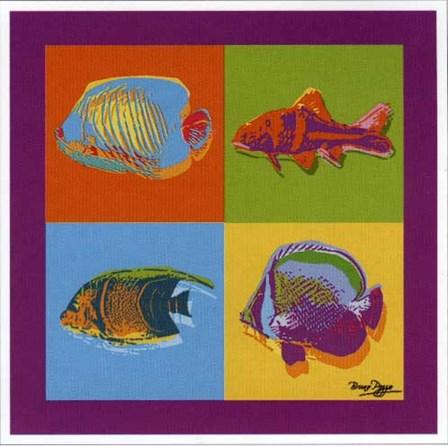 Happy Fishes by Bruno Pozzo art print