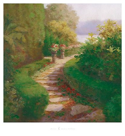 Garden Walkway by Haibin art print
