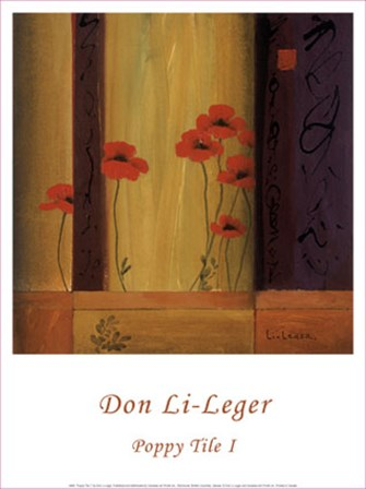 Poppy Tile I by Don Li-Leger art print