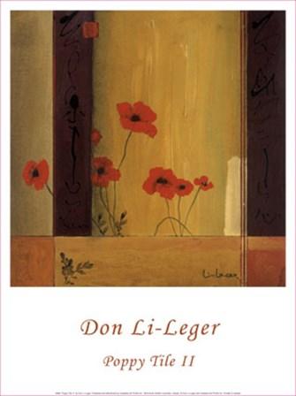 Poppy Tile II by Don Li-Leger art print