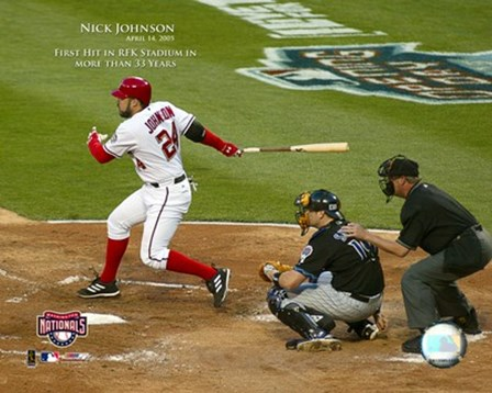 4/14/05 - Nick Johnson / 1st Hit At RFK Stadium In More Than 33 Years art print