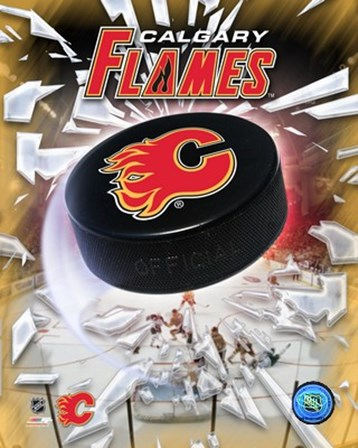 Calgary Flames 2005 - Logo / Puck art print