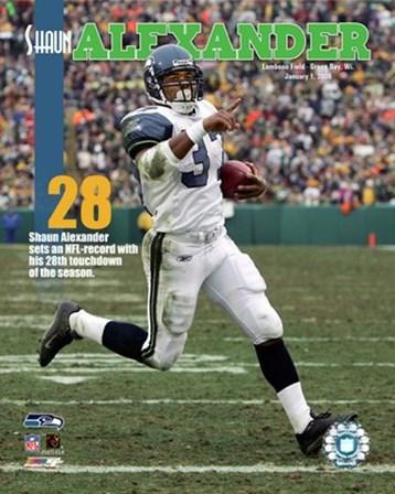 Shaun Alexander - 28th Touchdown Of The Season 1/1/06 NFL Record art print