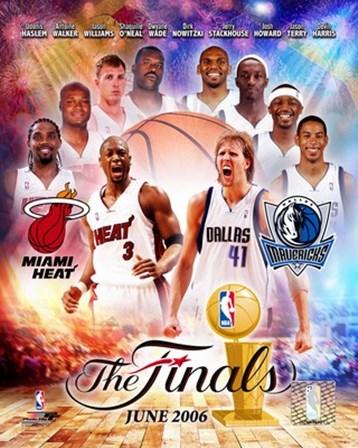 NBA - 2006 Finals Match-Up Heat Vs. Mavericks art print