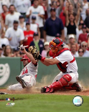 Jason Varitek - 2006 Play At The Plate art print