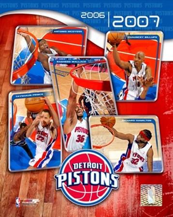'06 / '07 Pistons Team Composite art print