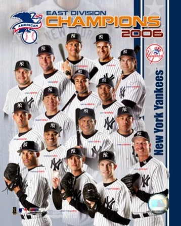 2006 - Yankees East Division Champs Team Composite art print