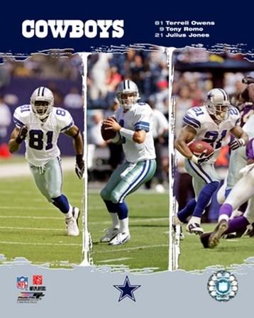 """2006 - Cowboys """"Big 3"""" art print"""